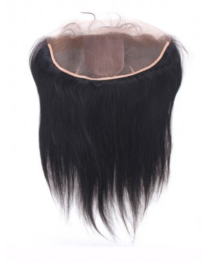 silky straight 13*4 lace frontal with 4*4 silk base