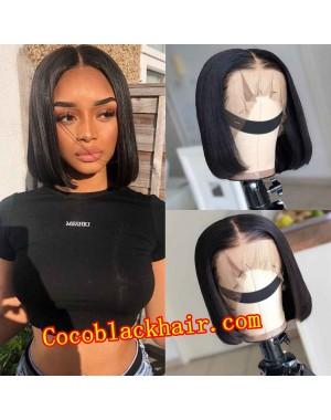 Nana-Middle parting bob 13x6 glueless wig Brazilian virgin Pre plucked