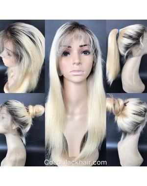 Emily08-Brazilian virgin 1b/613 straight 360 wig