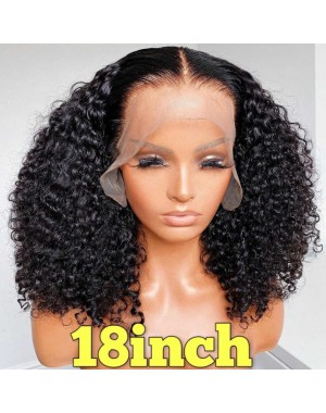 Nova 12-Brazilian virgin human hair 3C/4A kinky curly 13x6 glueless lace front wig Pre plucked hairline