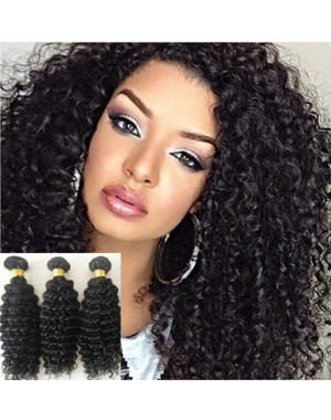 Malaysian virgin 3 bundles curly hair weaves