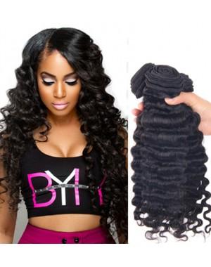 Brazilian virgin 4 bundles deep wave hair weaves