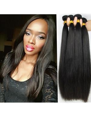 Chinese virgin 4 bundles silky straight hair weaves