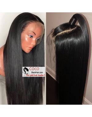 Nova-Brazilian virgin 150% density glueless 6 inches lace front wig preplucked hairline