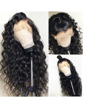 Emily32-Brazilian virgin beachy wave 360 frontal wig