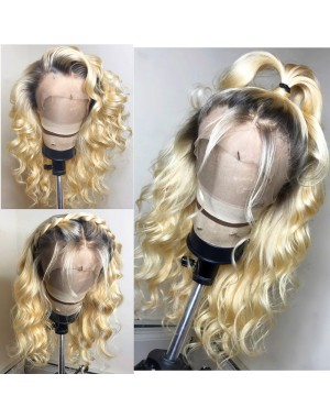 Josie-Brazilian virgin beyonce wave pre plucked full lace wig