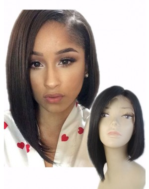 Britt- Indian remy Bob style full lace wig