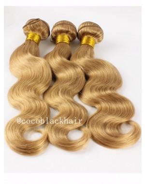 3 bundles Brazilian virgin body wave blonde color #27