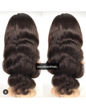 Tara-Brazilian virgin pre plucked body wave full lace wig