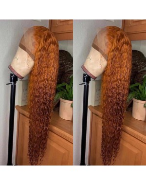 Emily67-Pre plucked brown curly Brazailian virgin hair 360 wig