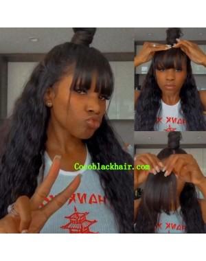 Clip on bangs See-through bangs Virgin human hair