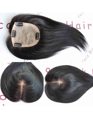 4inchesx5inches Clips in silk base topper hair pieces[TP01]