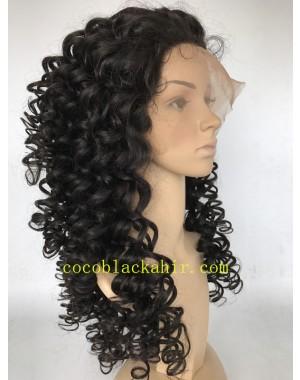 Martina-Brazilian virdin deep curl human hair full lace wig