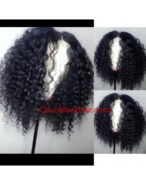 Crystal- Brazilian virgin deep curly full lace wig