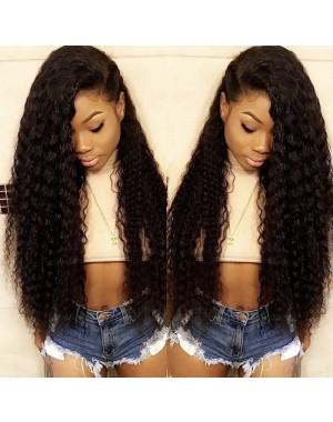 Emily22-Brazilian virgin deep wave 360 lace frontal wig