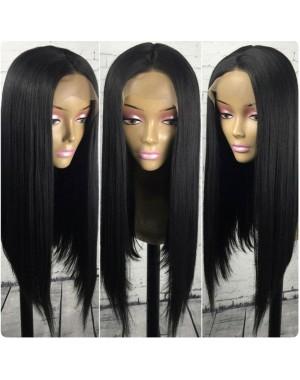 Emily21-Brazilian virgin silky straight bob 360 frontal wig