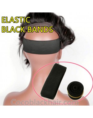 ELASTIC BLACK BANDS - 2 PIECES