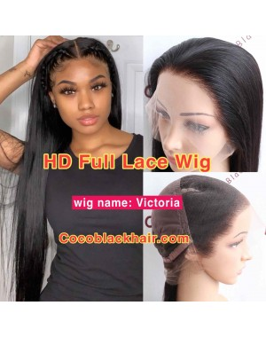 Victoria-HD Full Lace Wig Pre-plucked 10A Brazilian Virgin human hair