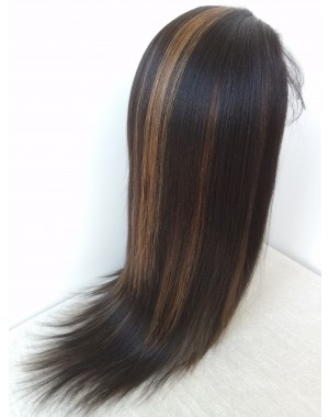 Lucy- Brazilian virgin hair T1b/30 highlight full lace wig