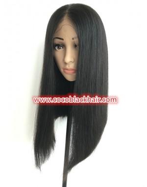 Deja-Brazilian virgin pre plucked bob straight full lace wig
