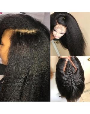 Mona-Brazilian virgin Italian yaki full lace silk top wig