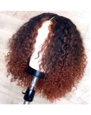 Emily34-Pre plucked Brazilian virgin kinky curly 360 wig