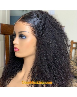 Asma-Kinky curly full lace wig Brazilian virgin human hair
