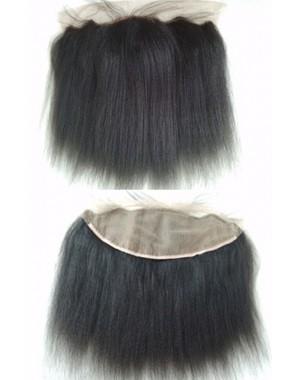 Indian remy Italian yaki 13x4 silk top lace frontal