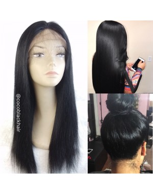 Linda-Chinese virgin Silky Straight Full Lace Wig