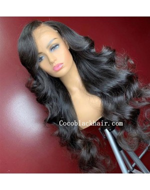 Angela 04-5x5 HD lace closure wig Loose Wave 10A grade Brazilian virgin human hair 150% density