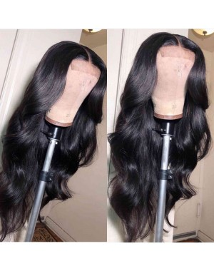 Luis-Brazilian virgin loose wave 4*4 lace closure wig