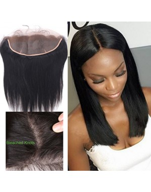Malaysian virgin silky straight lace frontal