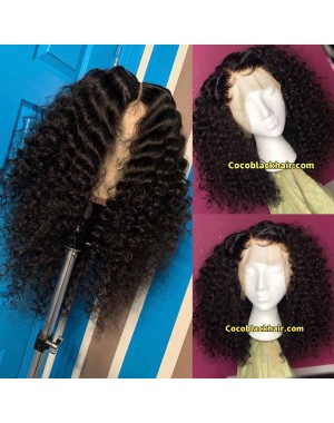 Emily36-Pre plucked Brazilian virgin natural curl 360 wig