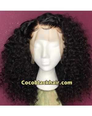 Emily58-Pre plucked Brazilian virgin natural curl 360 wig