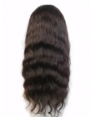 Jean-Malaysian virgin natural wave full lace wig