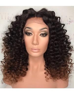 Emily27-Brazilian virgin Spanish curl 360 wig