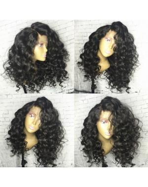 Emily20-Brazilian virgin Spanish wave 360 wig