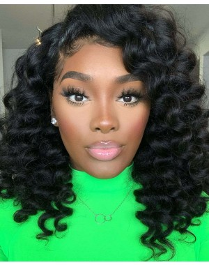 Angela 16-5x5 HD lace closure wig Spanish wave 10A grade Brazilian virgin human hair