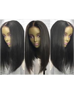 Diana- Brazilian virgin pre plucked bob straight full lace wig