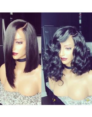 Emily18-Brazilian virgin wave bob 360 lace frontal wig
