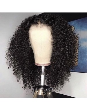 Emily57-Pre plucked Brazilian virgin wet curly 360 wig