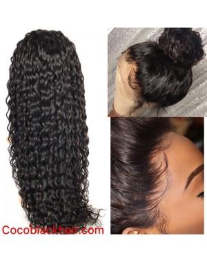 Emily04- Brazilian virgin wet wave 360 lace frontal wig