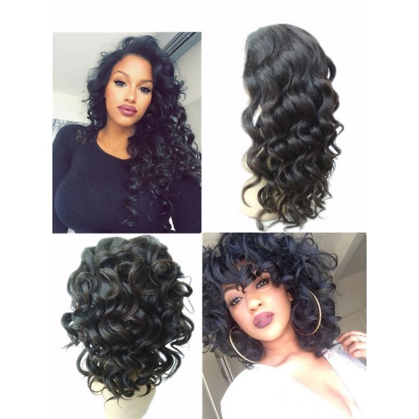 Paige-Brazilian Ocean water Wave Full Lace Wigs Human Hair For Black ...