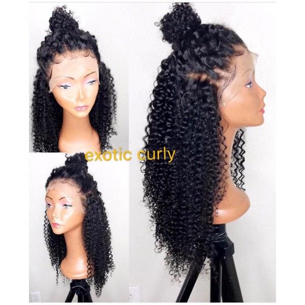 Helen Brazilian Virgin Exotic Curly Full Lace Wigs