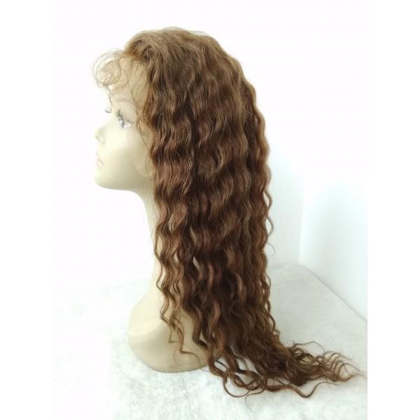 Myra Burmese Virgin Human Hair Curly Hair Wigs Glueless