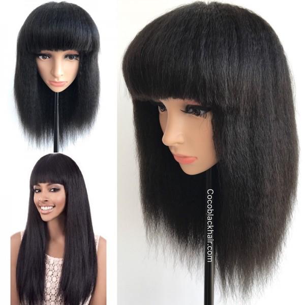 Bob04 Brazilian Virgin Human Hair Kinky Straight Blunt