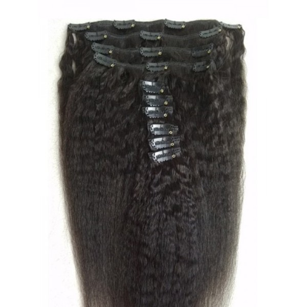 In Stock Clips In Remy Human Hair Extension Indian Remy Human Hair