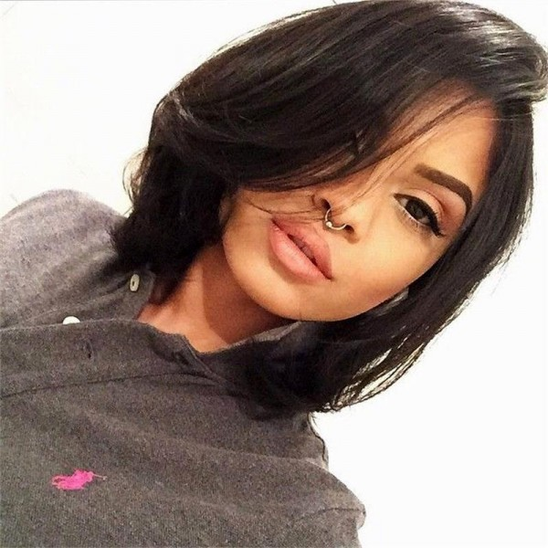 Belle Full Lace Short Bob Wigs Indian Remy Hair Bob Style