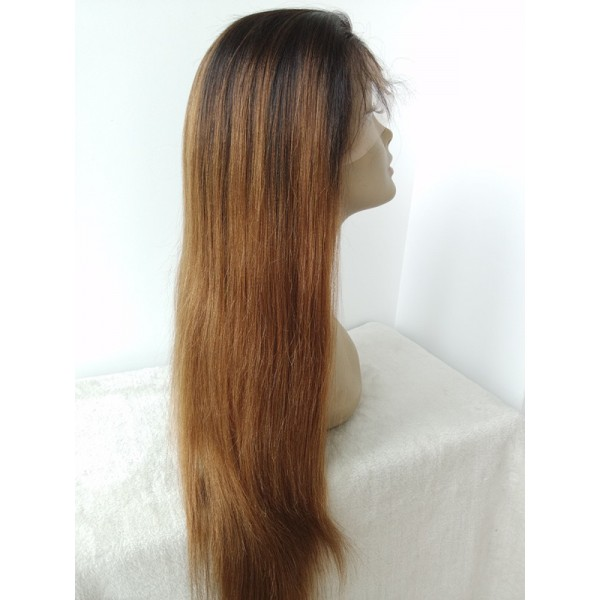 Vivien Ombre Full Lace Human Hair Wigs For Black White