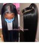 Nova 02-Silky straight Brazilian virgin 13x6 wig glueless lace front Pre plucked hairline